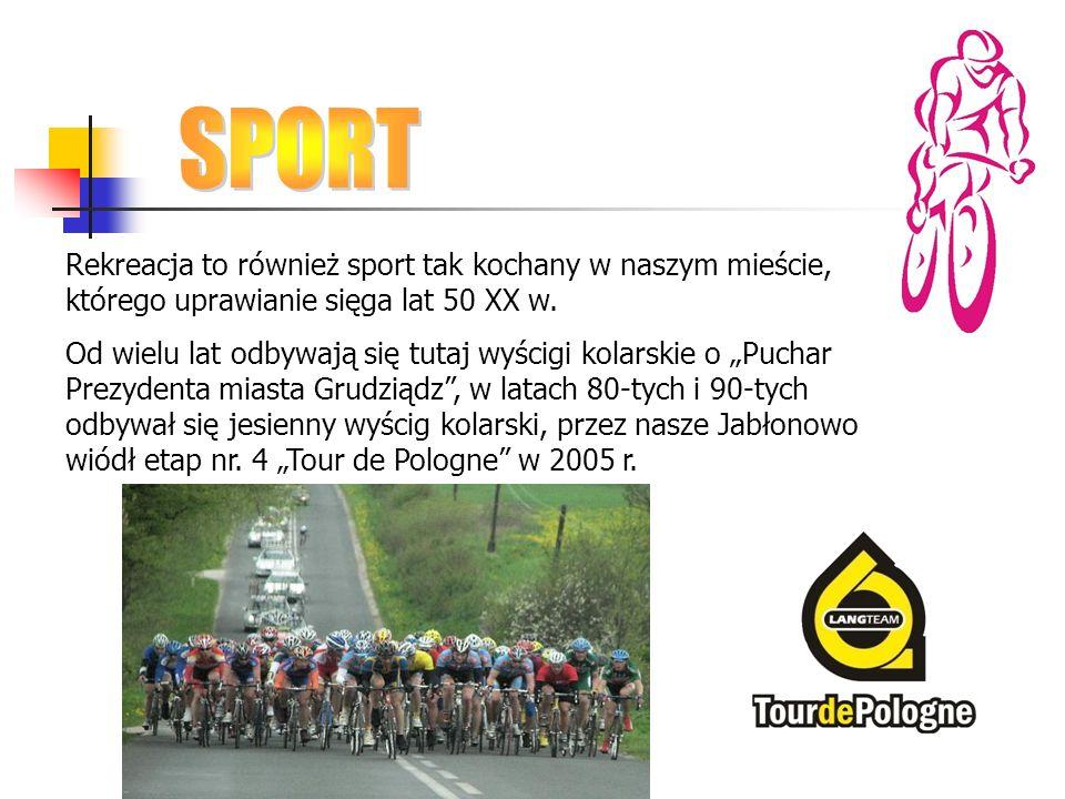 SPORT Rekreacja to również sport tak kochany w naszym mieście, którego uprawianie sięga lat 50 XX w.