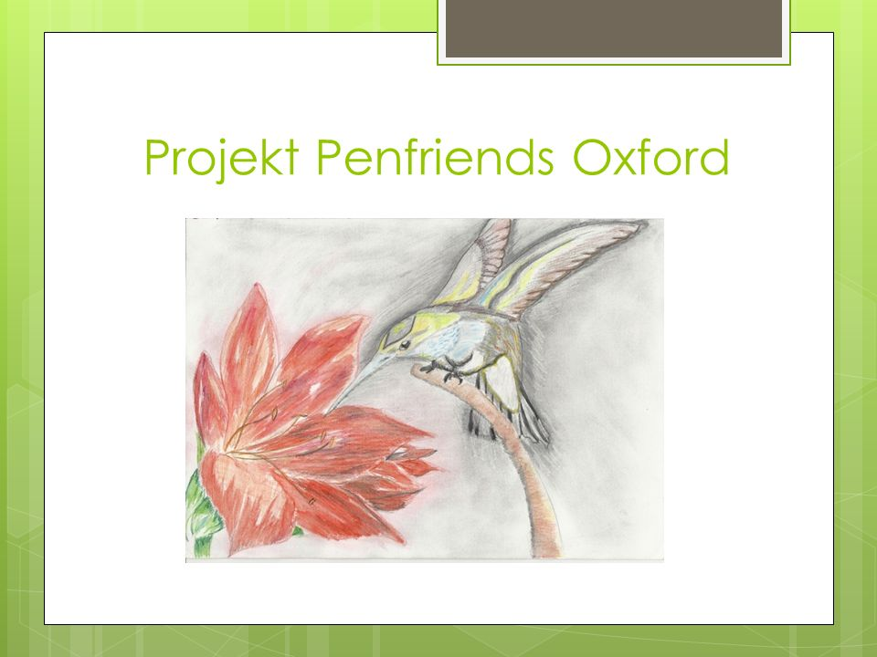 Projekt Penfriends Oxford