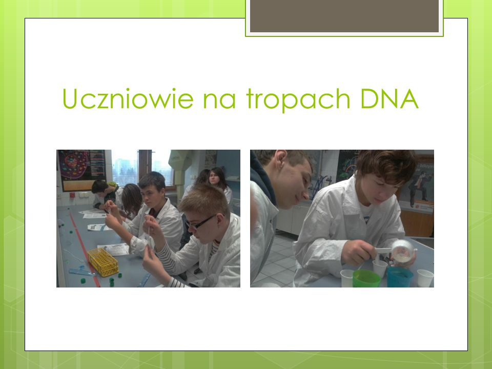 Uczniowie na tropach DNA