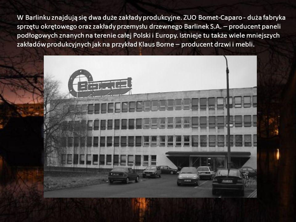 W Barlinku znajdują się dwa duże zakłady produkcyjne