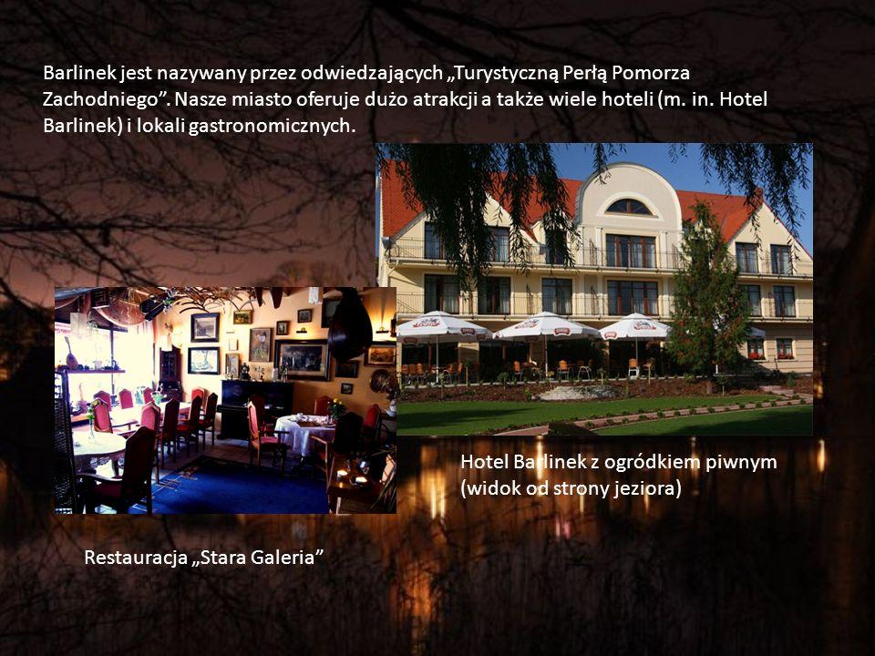 """Barlinek jest nazywany przez odwiedzających """"Turystyczną Perłą Pomorza Zachodniego . Nasze miasto oferuje dużo atrakcji a także wiele hoteli (m. in. Hotel Barlinek) i lokali gastronomicznych."""