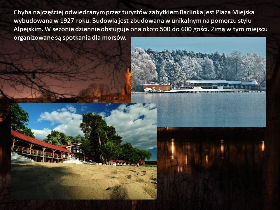 Chyba najczęściej odwiedzanym przez turystów zabytkiem Barlinka jest Plaża Miejska wybudowana w 1927 roku.