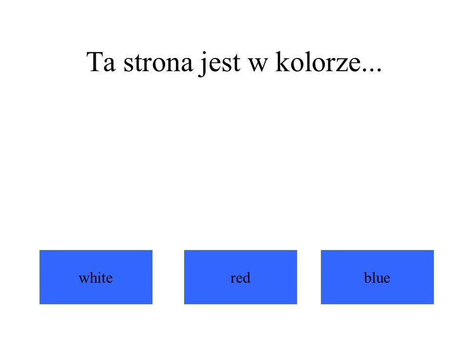 Ta strona jest w kolorze...