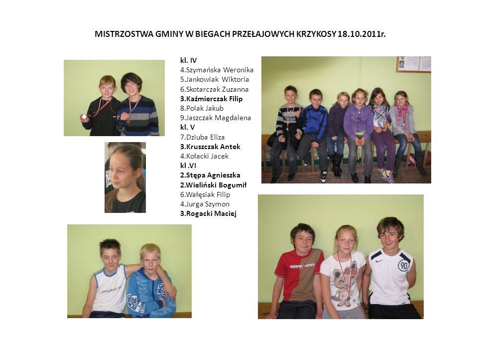 MISTRZOSTWA GMINY W BIEGACH PRZEŁAJOWYCH KRZYKOSY 18.10.2011r.