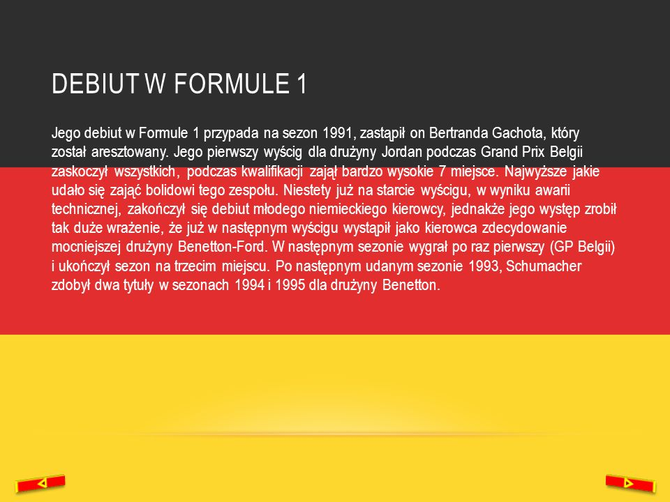 debiut w formule 1