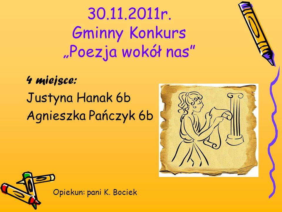 """30.11.2011r. Gminny Konkurs """"Poezja wokół nas"""