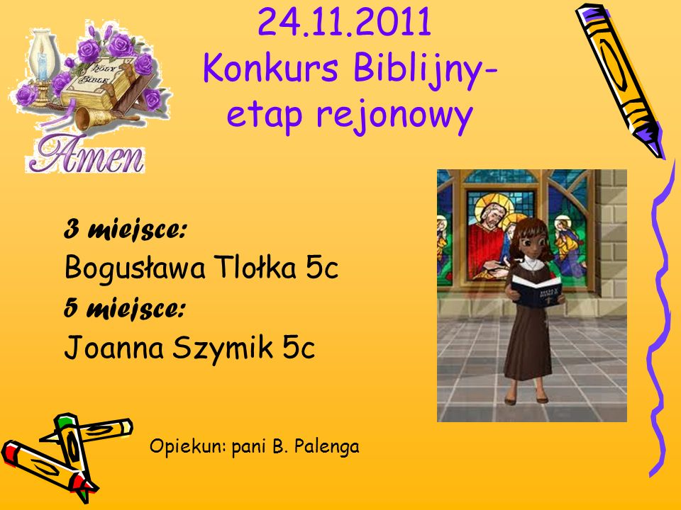 24.11.2011 Konkurs Biblijny- etap rejonowy