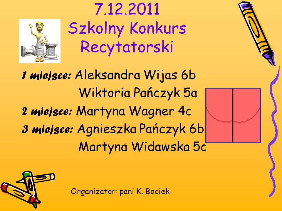 7.12.2011 Szkolny Konkurs Recytatorski