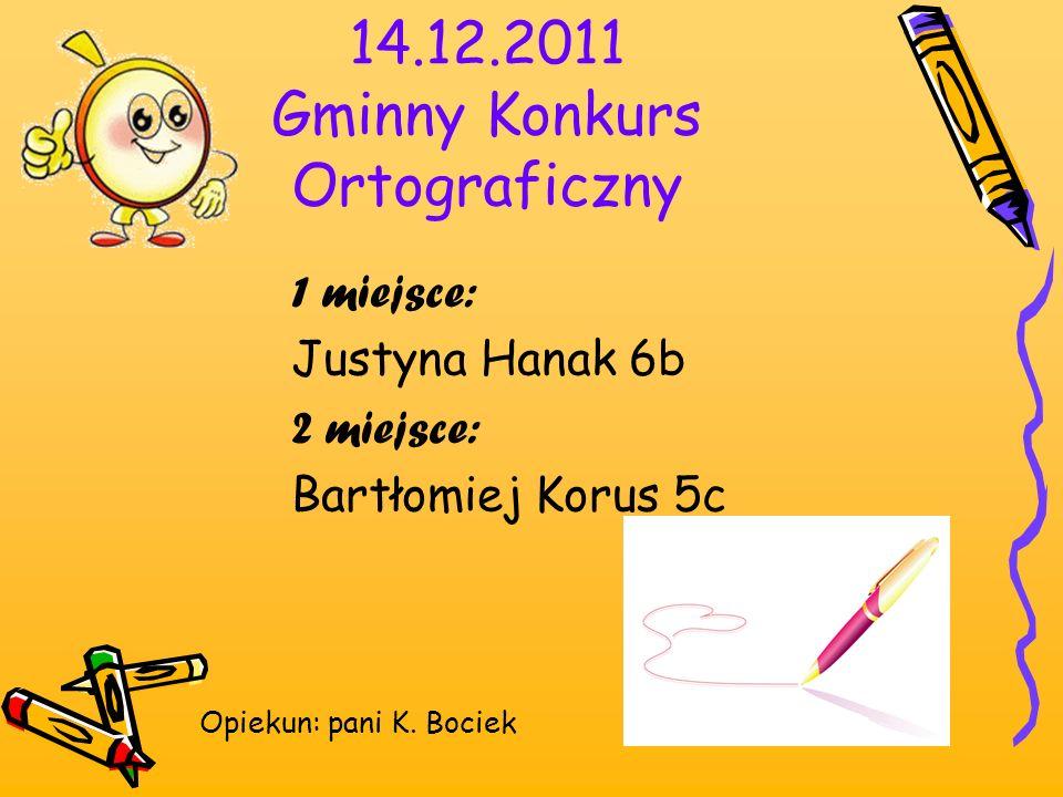 14.12.2011 Gminny Konkurs Ortograficzny