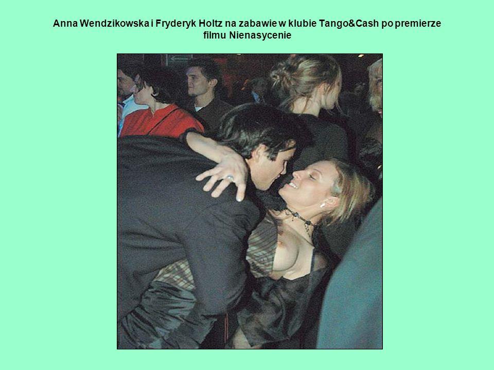 Anna Wendzikowska i Fryderyk Holtz na zabawie w klubie Tango&Cash po premierze filmu Nienasycenie