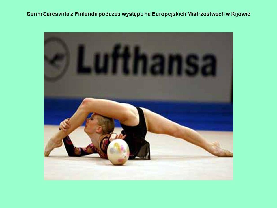 Sanni Saresvirta z Finlandii podczas występu na Europejskich Mistrzostwach w Kijowie