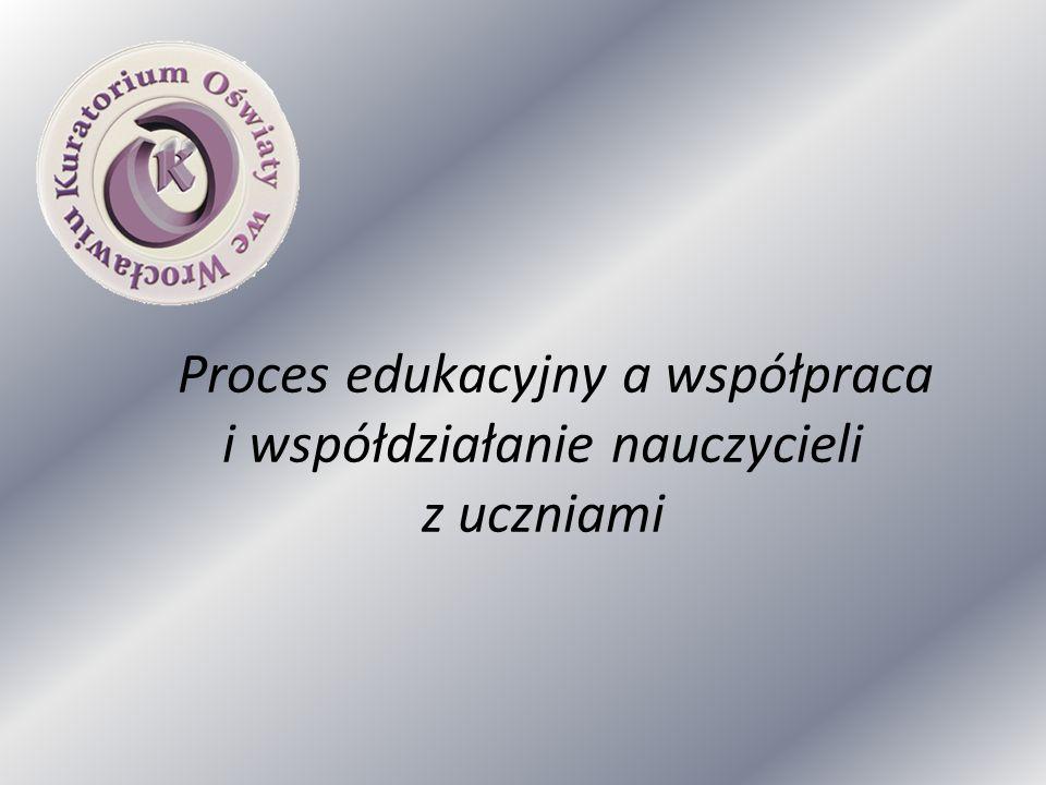 Proces edukacyjny a współpraca i współdziałanie nauczycieli z uczniami