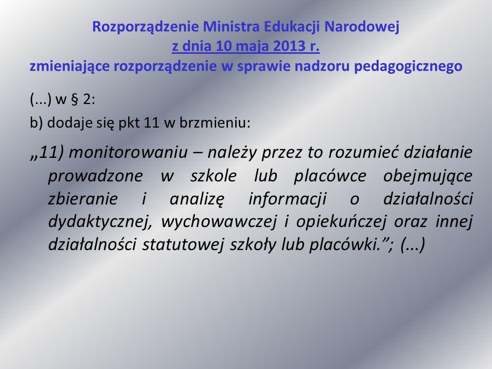 Rozporządzenie Ministra Edukacji Narodowej z dnia 10 maja 2013 r