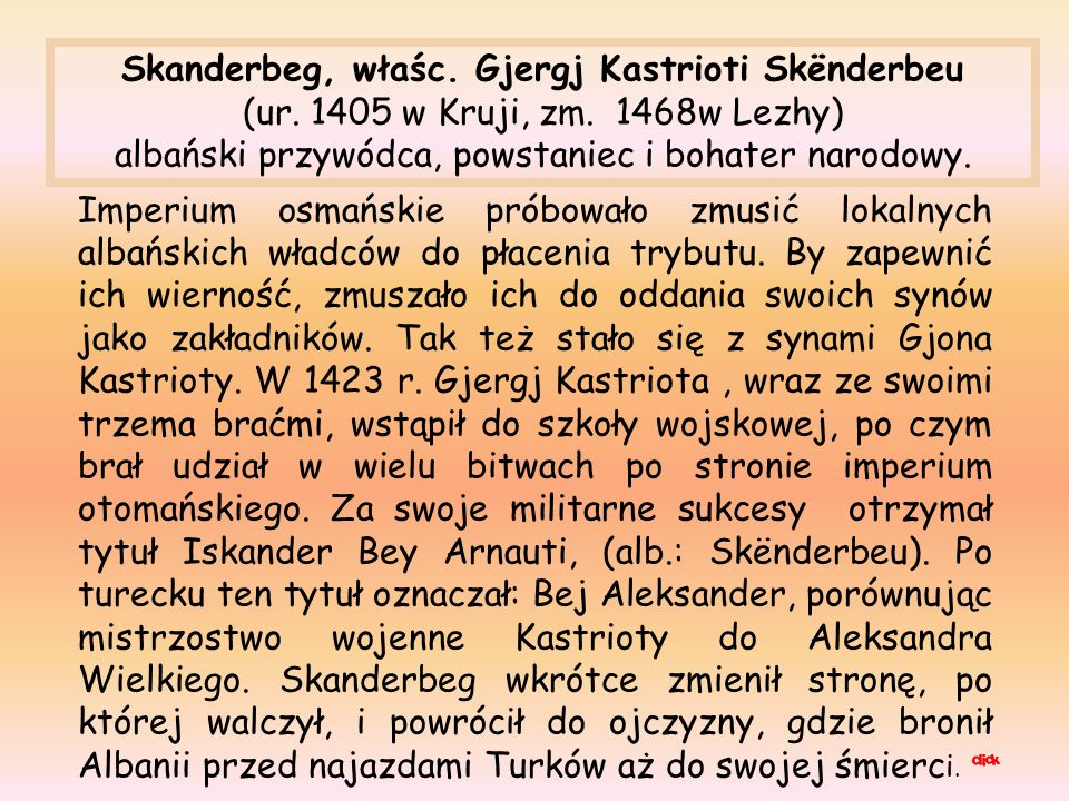 Skanderbeg, właśc. Gjergj Kastrioti Skënderbeu