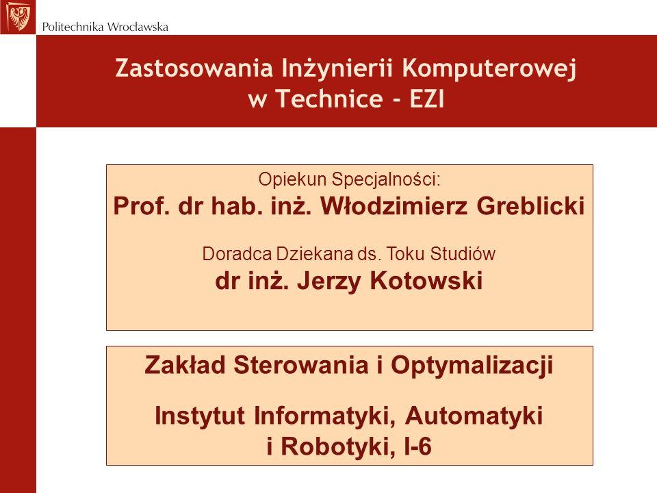 Zastosowania Inżynierii Komputerowej w Technice - EZI
