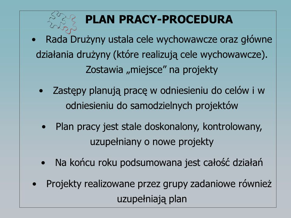 PLAN PRACY-PROCEDURA