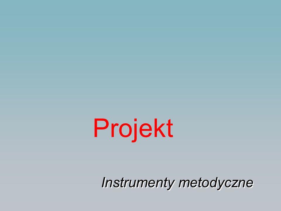 Projekt Instrumenty metodyczne