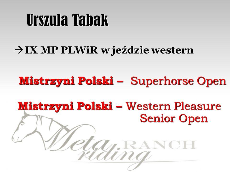 Urszula Tabak Mistrzyni Polski – Superhorse Open