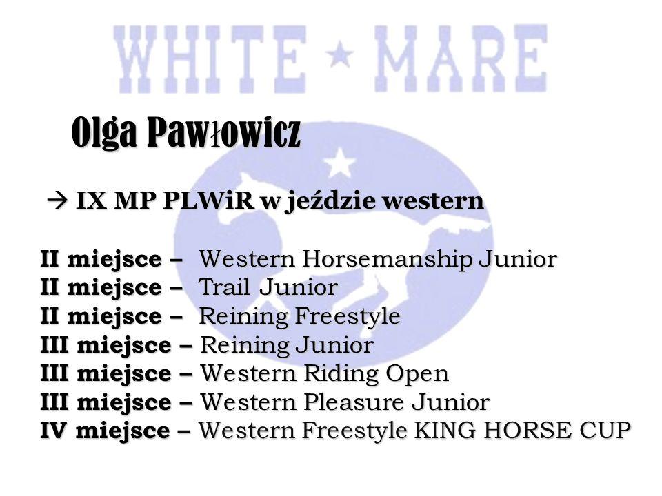 Olga Pawłowicz  IX MP PLWiR w jeździe western