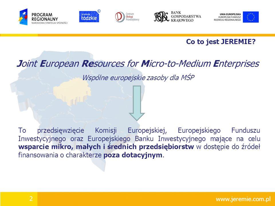 Joint European Resources for Micro-to-Medium Enterprises