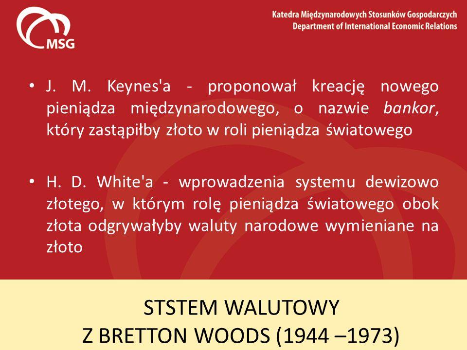 STSTEM WALUTOWY Z BRETTON WOODS (1944 –1973)