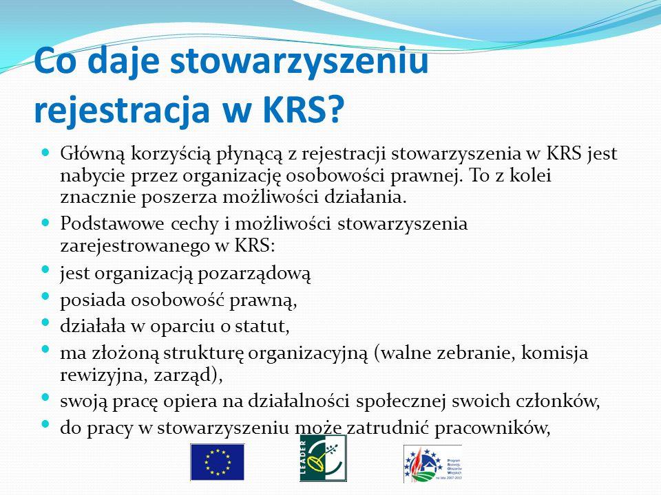 Co daje stowarzyszeniu rejestracja w KRS