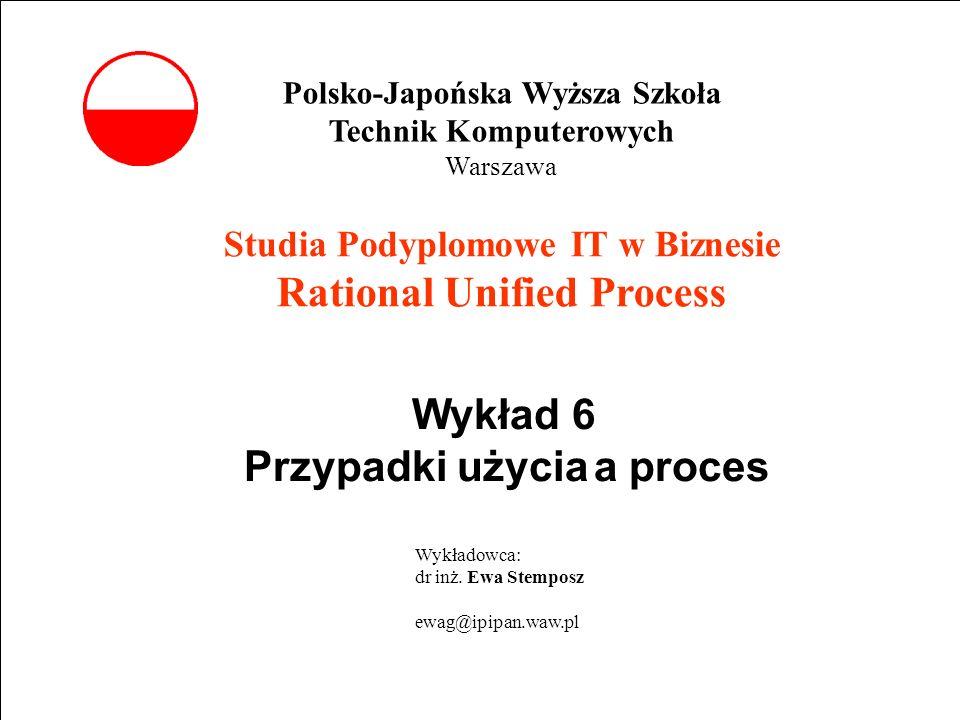 Wykład 6 Przypadki użycia a proces
