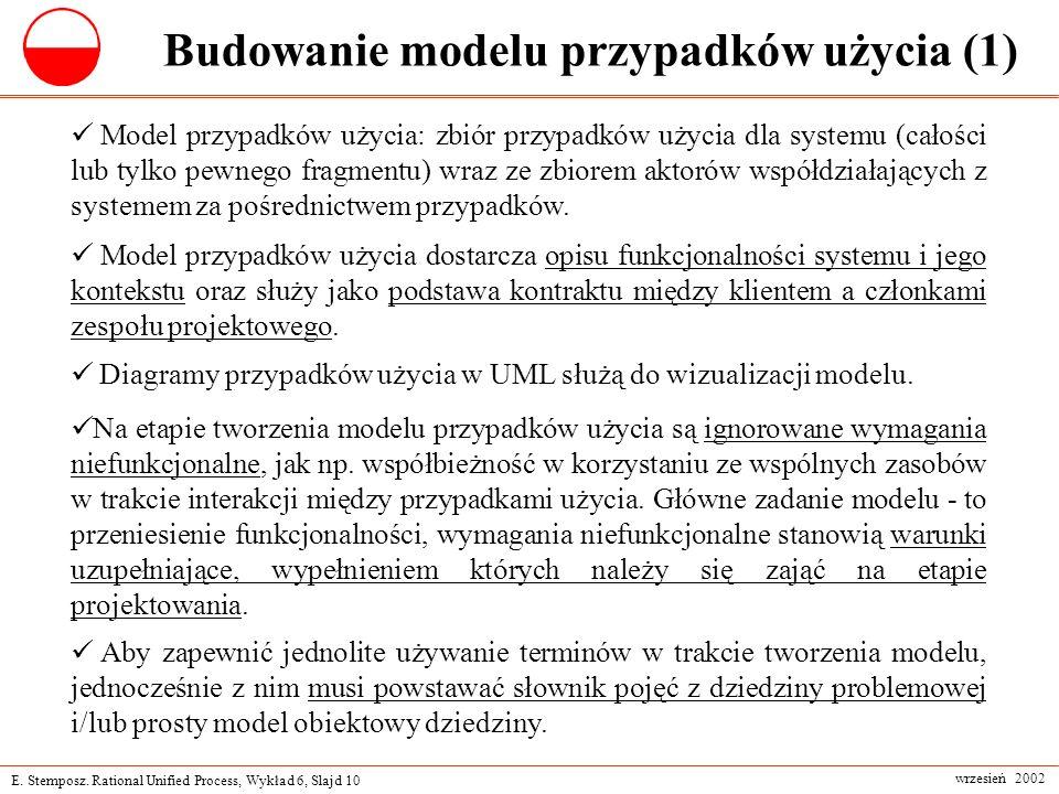 Budowanie modelu przypadków użycia (1)