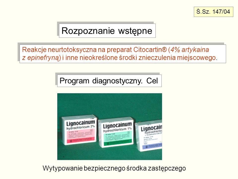 Rozpoznanie wstępne Program diagnostyczny. Cel