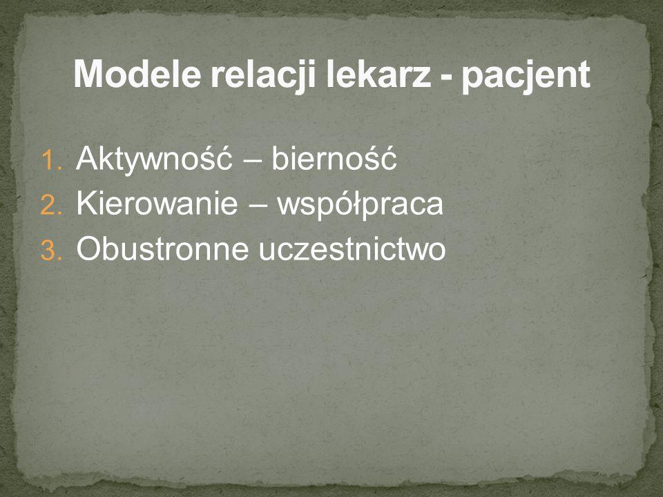 Modele relacji lekarz - pacjent
