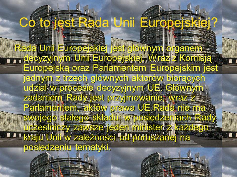 Co to jest Rada Unii Europejskiej