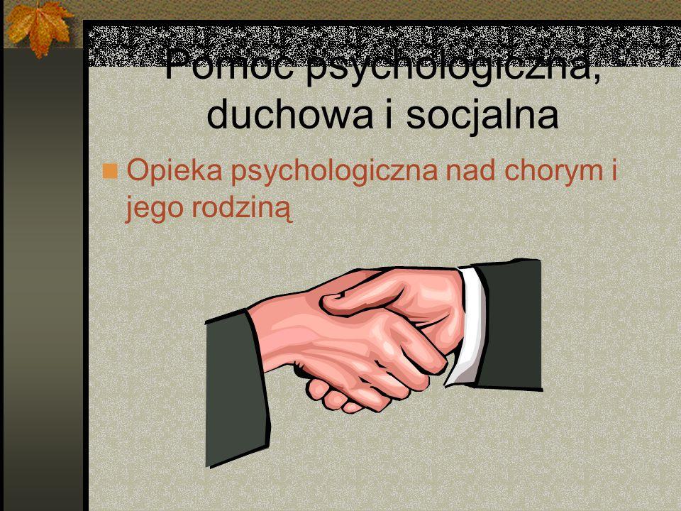 Pomoc psychologiczna, duchowa i socjalna