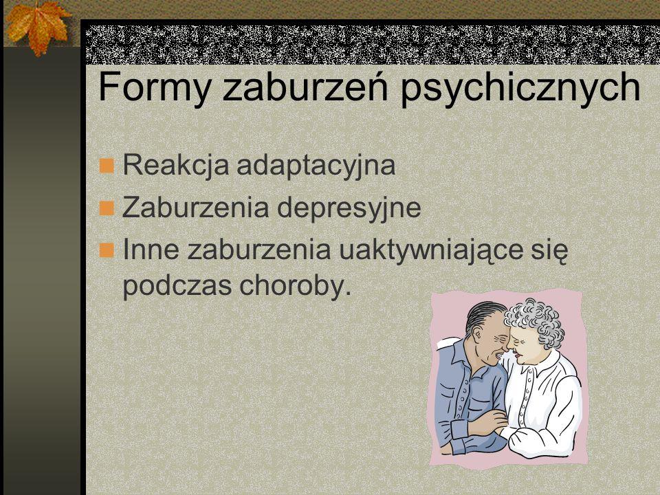 Formy zaburzeń psychicznych
