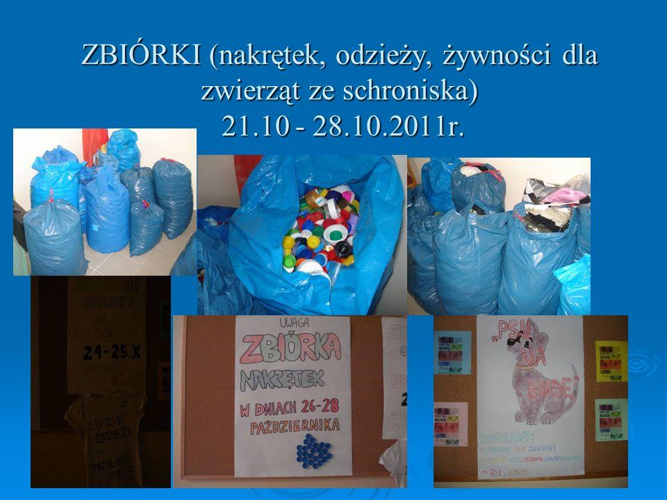ZBIÓRKI (nakrętek, odzieży, żywności dla zwierząt ze schroniska) 21