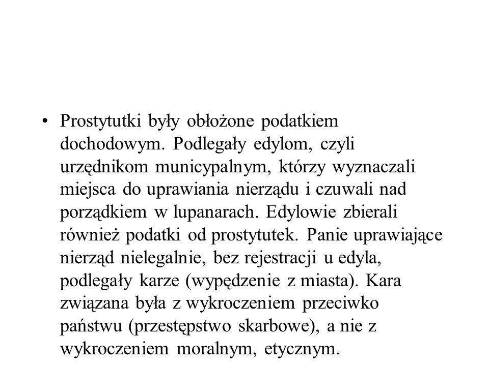 Prostytutki były obłożone podatkiem dochodowym