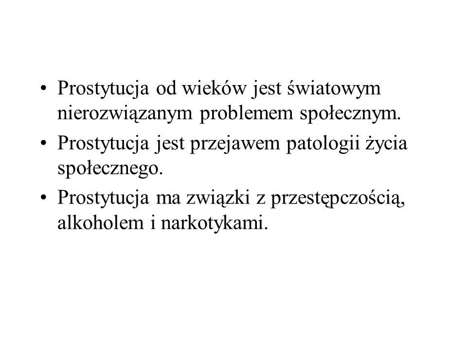 Prostytucja od wieków jest światowym nierozwiązanym problemem społecznym.