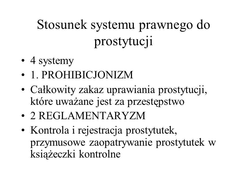 Stosunek systemu prawnego do prostytucji