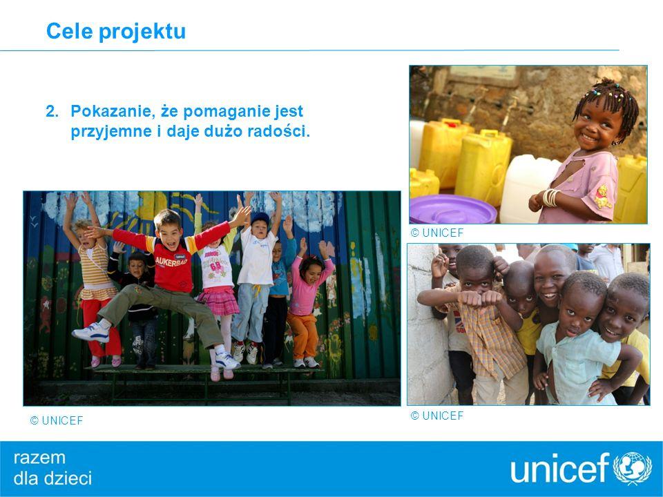 Cele projektu Pokazanie, że pomaganie jest przyjemne i daje dużo radości.