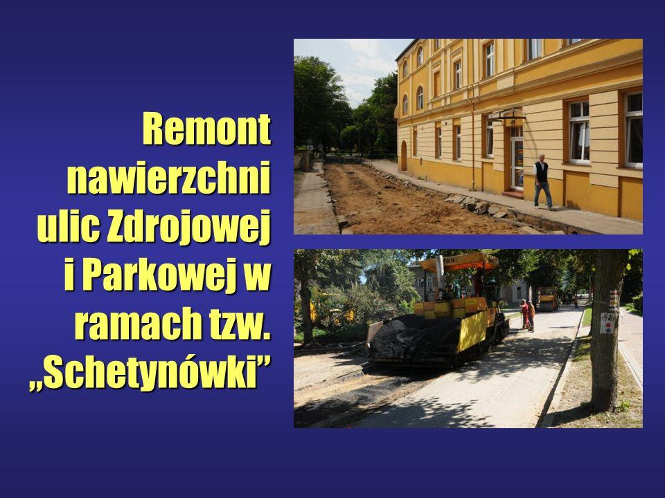 Remont nawierzchni ulic Zdrojowej i Parkowej w ramach tzw