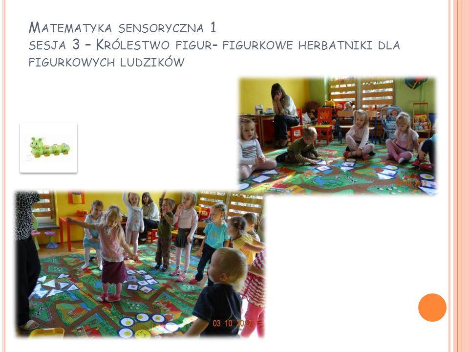 Matematyka sensoryczna 1 sesja 3 – Królestwo figur- figurkowe herbatniki dla figurkowych ludzików