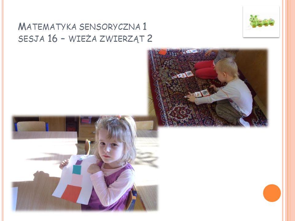 Matematyka sensoryczna 1 sesja 16 – wieża zwierząt 2