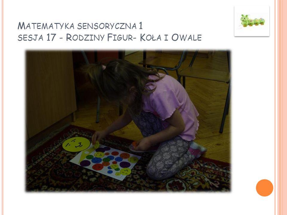 Matematyka sensoryczna 1 sesja 17 - Rodziny Figur- Koła i Owale