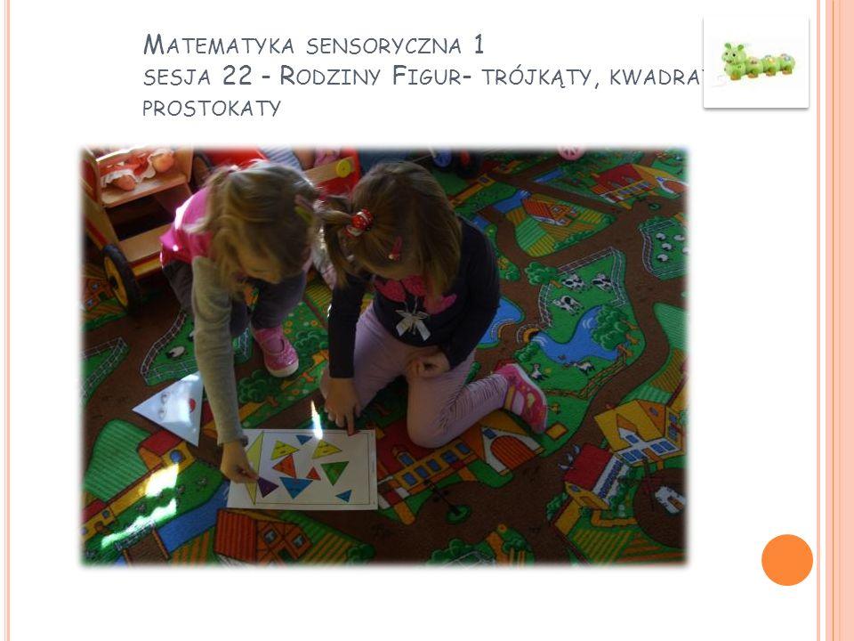 Matematyka sensoryczna 1 sesja 22 - Rodziny Figur- trójkąty, kwadraty, prostokaty