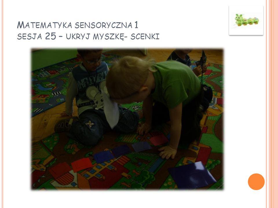 Matematyka sensoryczna 1 sesja 25 – ukryj myszkę- scenki
