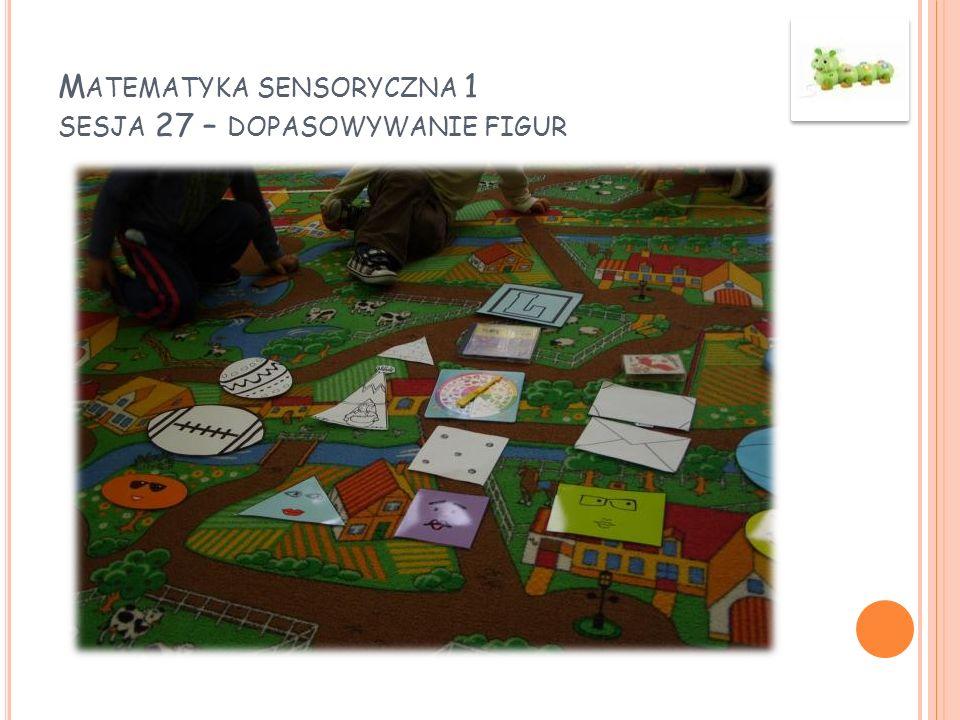 Matematyka sensoryczna 1 sesja 27 – dopasowywanie figur