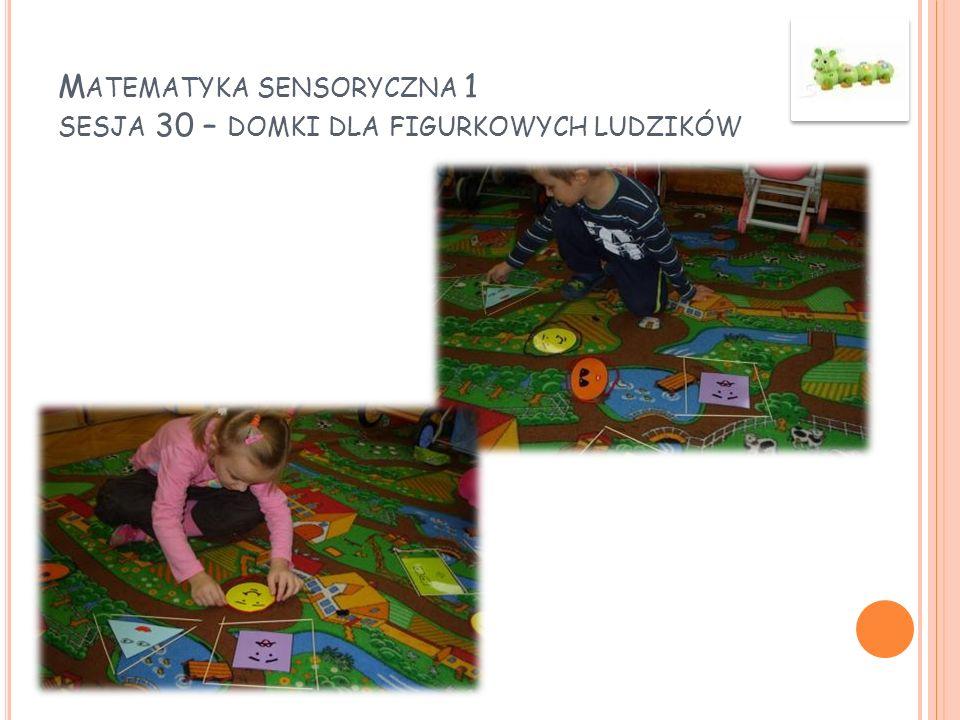 Matematyka sensoryczna 1 sesja 30 – domki dla figurkowych ludzików