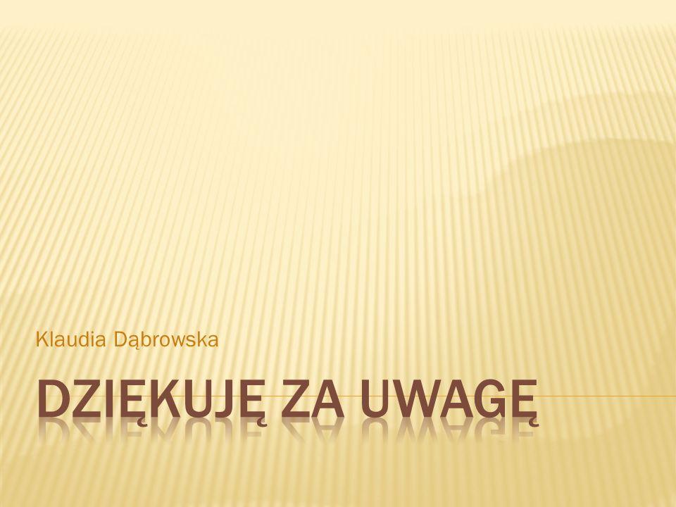 Klaudia Dąbrowska Dziękuję za uwagę