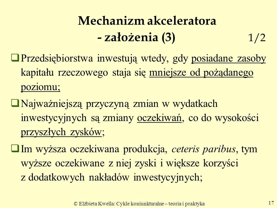 Mechanizm akceleratora - założenia (3) 1/2