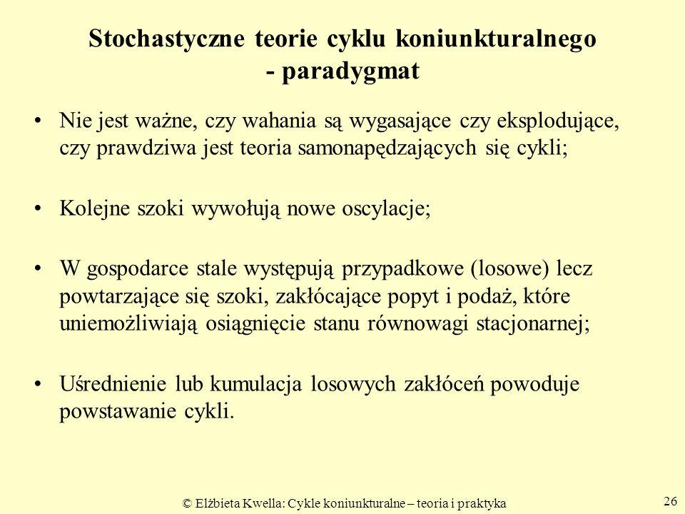 Stochastyczne teorie cyklu koniunkturalnego - paradygmat