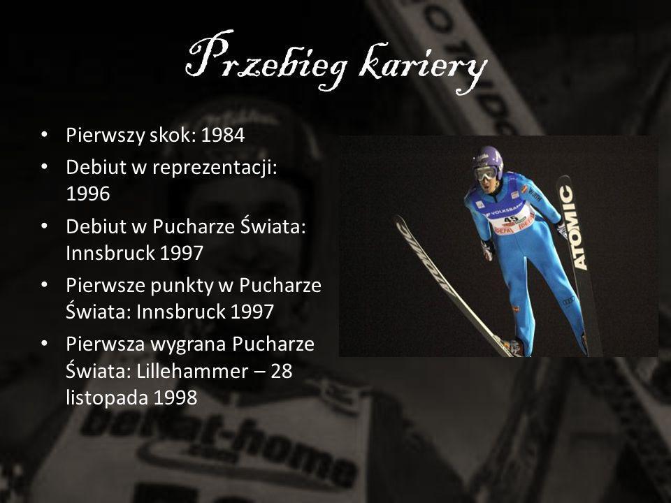 Przebieg kariery Pierwszy skok: 1984 Debiut w reprezentacji: 1996